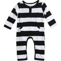 Baby Romper Babies Jumpsuit Infant Toddler Kids Long Sleeve Cotton  Striped Rompers Cute Baby Girls Clothes Boy Clothing Rompers