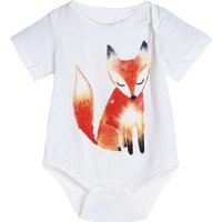 Baby Romper Babies Jumpsuit Infant Toddlers Fox Printed Tops Short Sleeve Cotton Rompers Jumpsuits  Boys Girls Outfit