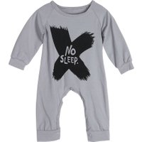 Baby Romper Kids Toddlers Long Sleeve Cotton Letter Print Rompers Babies Boys Jumpsuits Cute Baby Girls Clothes