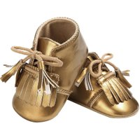 Baby Soft Fashion Tassel Moccasin Newborn Babies Prewalkers(Gold)(12cm)