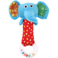 Cute Plush Cartoon Elephant Hand Bells Baby Lovely Toys Baby Rattle Ring Bell Toy Early Educational Babies Plaything Gift