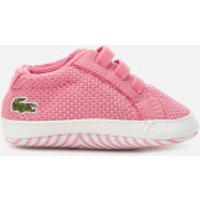 Lacoste Babies' L.12.12 Crib 318 1 Trainers - Pink/White - UK 0 Baby - Pink