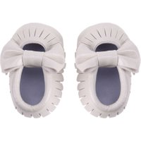 Newborn Babies PU leather Tassel Bowknot Sole First Walker(White 13)