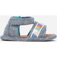 TOMS Babies' Shiloh Sandals - Blue Slub Chambray/Tribal - UK 1.5 Baby - Blue
