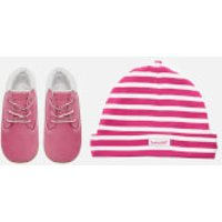 Timberland Babies' Crib Booties with Hat Gift Set - Fuchsia Rose - UK 1.5 Baby - Pink